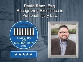 Lawyers of Distinction Award Personal Injury Law - Federal Way, David Ranz