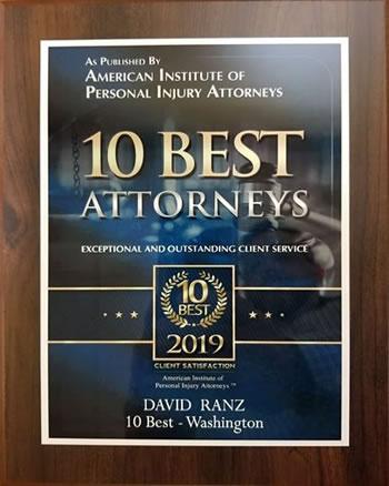 Ten Best Attorneys - American Institute of Personal Injury Award - Attorney David Ranz